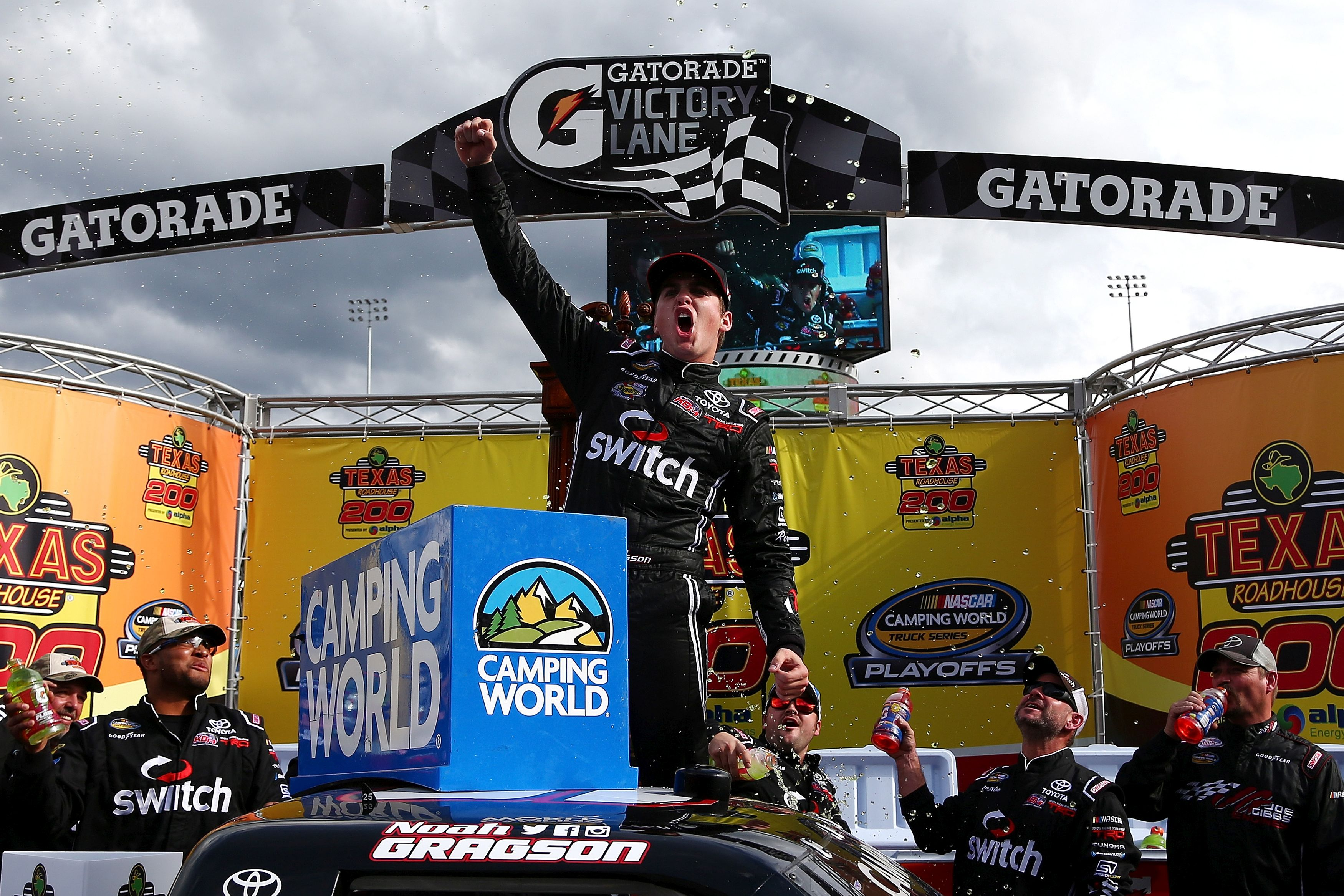 Bold outside pass at Martinsville sends Noah Gragson to Victory Lane ...